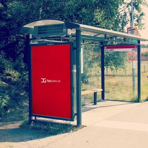 موکاپ تبلیغ ایستگاه اتوبوس