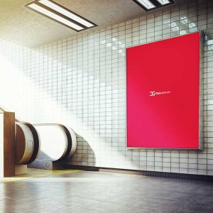 موکاپ تبلیغات مترو